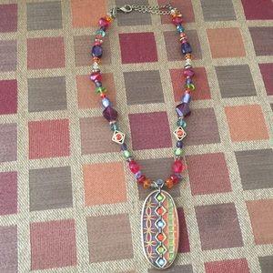 Chico's Colorful Stone Pendant Necklace